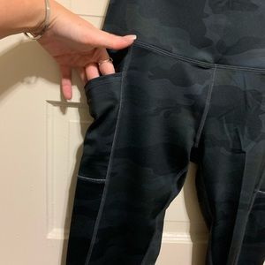 Camo workout pants with pockets